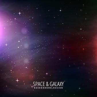 Lo spazio e la galassia di sfondo