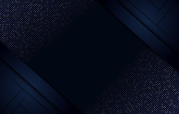Lo strato astratto blu navy si sovrappone all'illustrazione con glitter