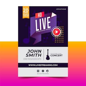 Locandina concerto di musica in diretta streaming