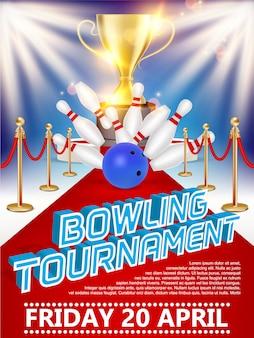 Locandina del torneo di bowling