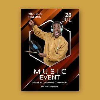 Locandina dell'evento musicale con foto