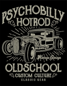 Locandina di psychobilly hotrod
