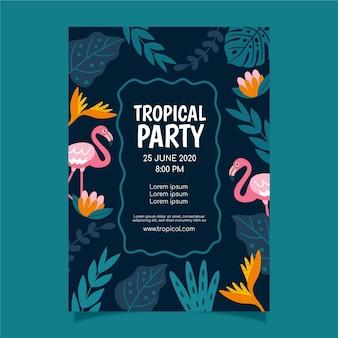 Locandina festa tropicale