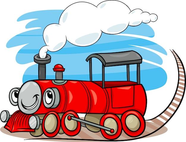 Locomotiva dei cartoni animati o carattere del motore