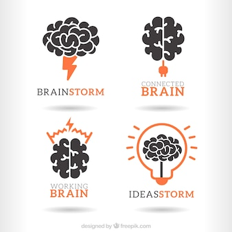 Loghi brainstorm pacchetto