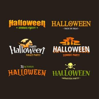 Loghi collezione di halloween