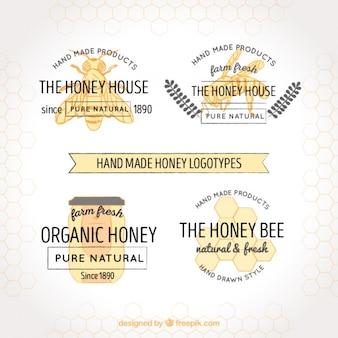 Loghi eleganti per i produttori di miele