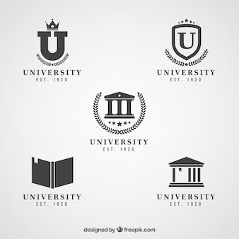 Loghi in bianco e nero eleganti per il college