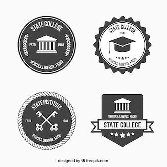 Loghi in bianco e nero per il college