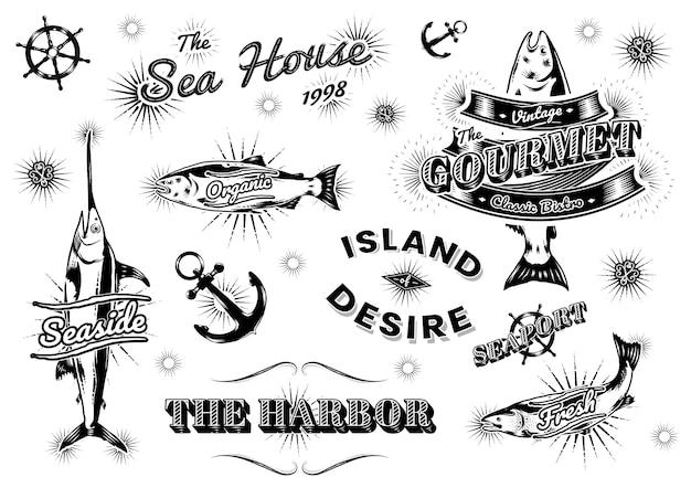 Loghi marini vintage