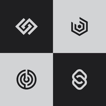 Loghi moderni. forme geometriche creative.