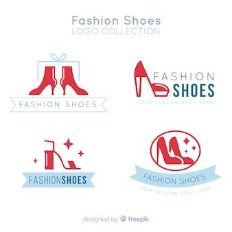 Loghi moderni set di scarpe