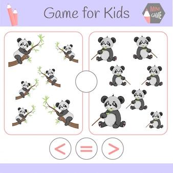 Logica gioco educativo per bambini in età prescolare. robot divertenti cartoon. scegli la risposta corretta. maggiore di, minore o uguale a