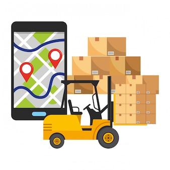 Logistica di spedizione del servizio di tracciabilità della consegna