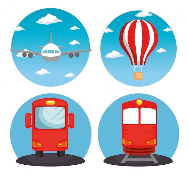 Logistica di trasporto veicoli set