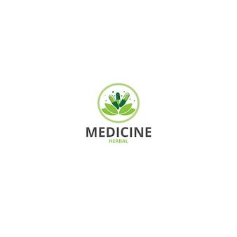 Logo a base di erbe medicina