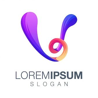 Logo a colori sfumati lettera v.
