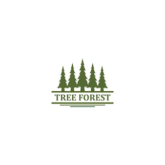 Logo all'aperto della natura della montagna - progettazione della foresta del pino della fauna selvatica di avventura