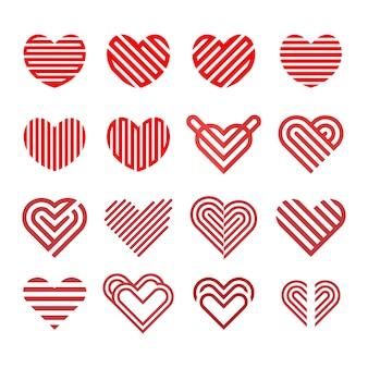 Logo amore collezione linea modello vettoriale