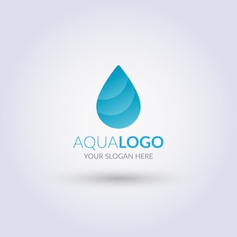 Logo aqua drop astratto