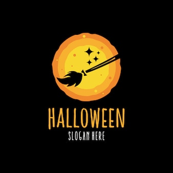 Logo arancione di halloween