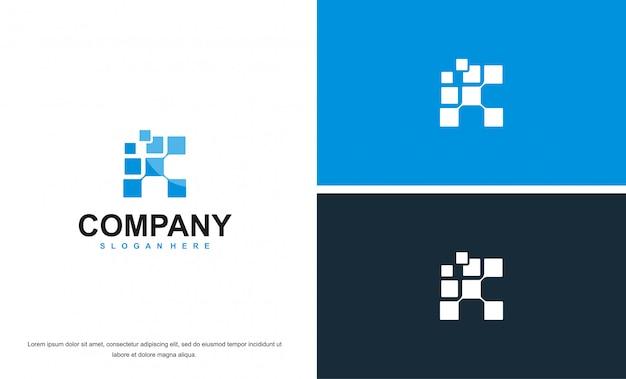 Logo astratto business blu