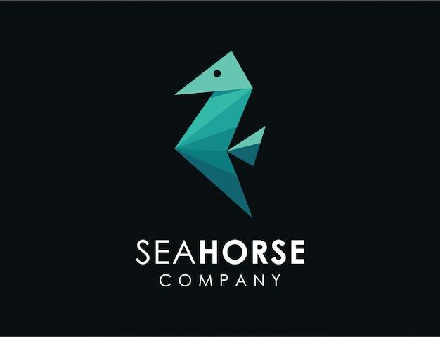 Logo astratto cavalluccio marino