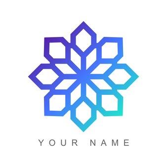 Logo astratto colore sfumato