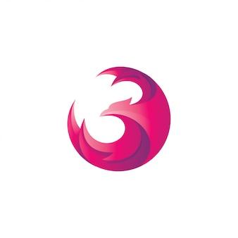 Logo astratto dell'ala di phoenix eagle hawk falcon