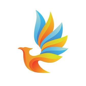 Logo astratto dell'uccello