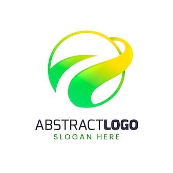 Logo astratto gradiente colorato
