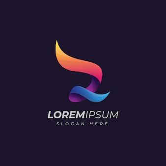 Logo astratto gradiente lettera z