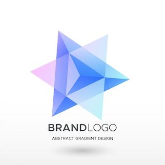 Logo astratto gradiente triangolo