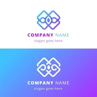 Logo astratto in due versioni