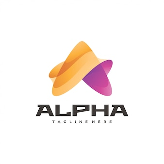Logo astratto lettera a triangolo o freccia