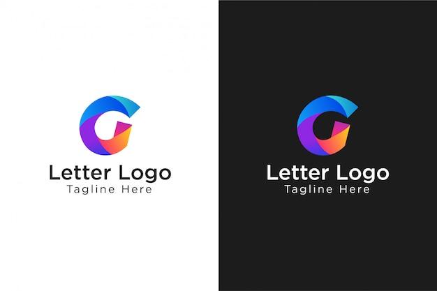 Logo astratto lettera g