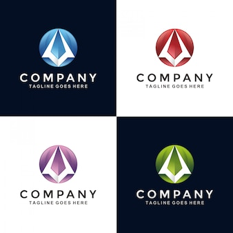 Logo astratto moderno aereo di carta