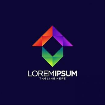 Logo astratto per media e intrattenimento