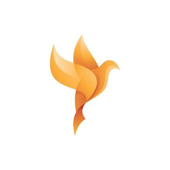 Logo astratto piccione colomba uccello