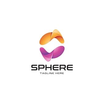 Logo astratto sfera colorata