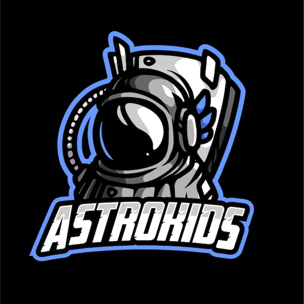 Logo astro kid mascotte