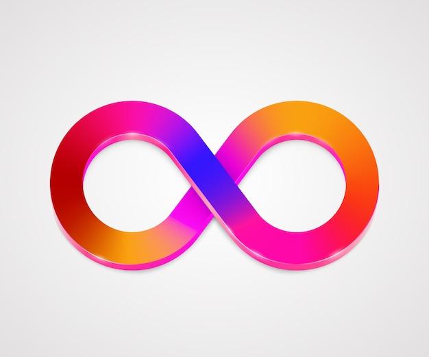 Logo aziendale colorato di infinità. concetto di eternità. illustrazione vettoriale.
