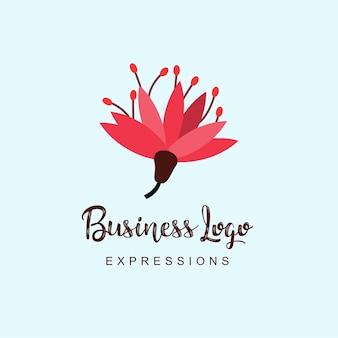 Logo aziendale di fiori con tipografia