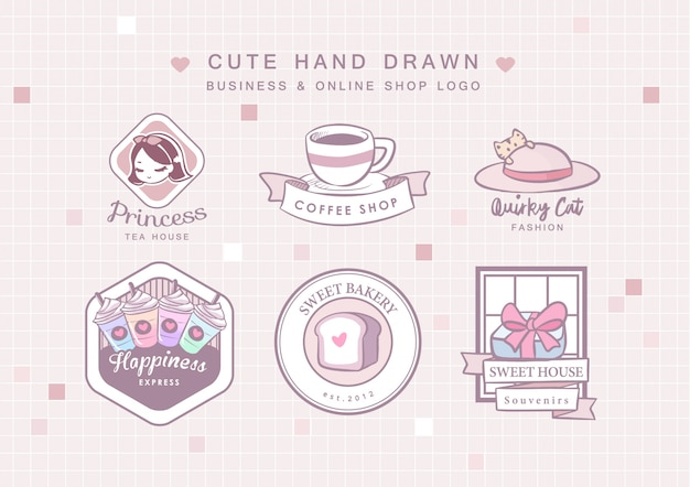 Logo aziendale disegnato a mano carino