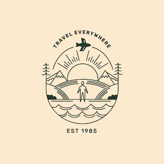Logo aziendale in viaggio dettagliato