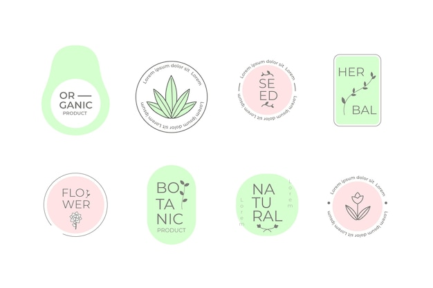 Logo aziendale naturale imposta stile minimal