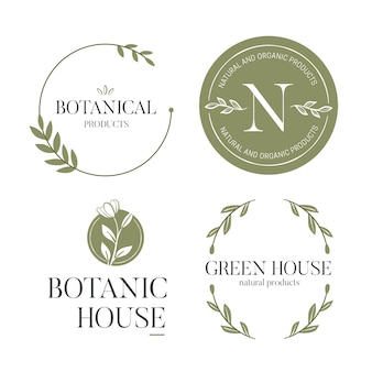 Logo aziendale naturale impostato in stile minimal