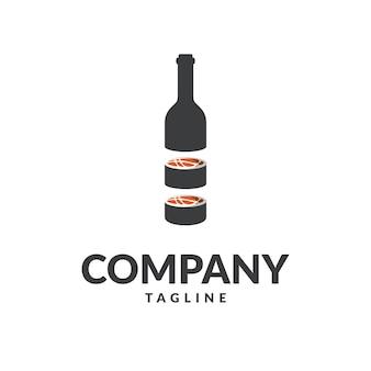 Logo botlle di sushi