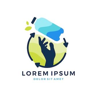 Logo bottiglia riciclare bottiglia