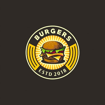 Logo burger giallo e scuro